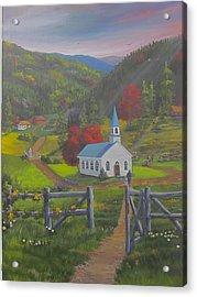 Early On The Lord's Day Acrylic Print by Glen Gray