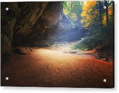 Early Pre-dawn Mist At Ash Cave Acrylic Print