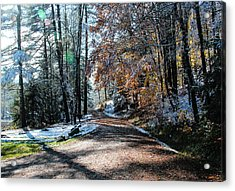 Early Snow Dusting Acrylic Print