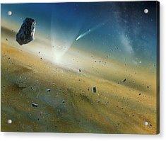 Early Solar System Acrylic Print