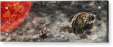 Early Solar System Acrylic Print by Nicolle R. Fuller