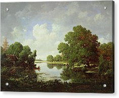 Early Summer Afternoon Acrylic Print by Pierre Etienne Theodore Rousseau