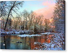 Early Winter Snow Acrylic Print by Mike Griffiths