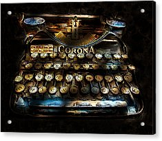 Early Word Processor Acrylic Print by Cary Shapiro