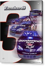 Acrylic Print featuring the photograph Earnhardt No. 3 by Ed Dooley