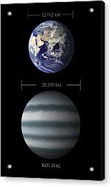 Earth And Koi-314c Comparison Acrylic Print