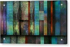 Earth And Sky  Abstract Art  Acrylic Print by Ann Powell