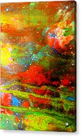 Earth And Sky Abstract Acrylic Print