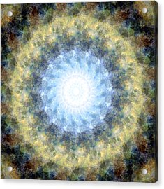 Earth And Sky Mandala Kaleidoscope Acrylic Print