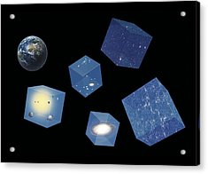 Earth And Space, Conceptual Artwork Acrylic Print by Science Photo Library