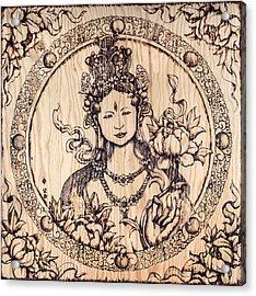 Earth Goddess Acrylic Print by Nozomi Takeyabu