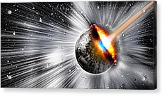 Earth Hit By Comet Acrylic Print