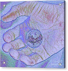 Earth In Hand Acrylic Print by First Star Art