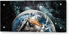 Earth In Space Acrylic Print
