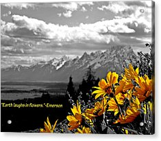 Earth Laughs In Flowers Acrylic Print