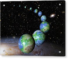 Earth-like Alien Planets Acrylic Print by Nasa/esa/g.bacon/stsci
