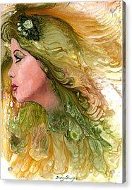 Earth Maiden Acrylic Print by Sherry Shipley