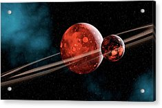 Earth-moon System Formation Acrylic Print by Joe Tucciarone