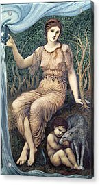 Earth Mother, 1882 Gesso Acrylic Print