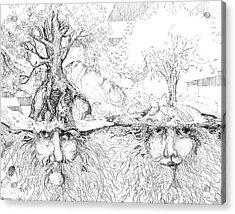Earth People Acrylic Print