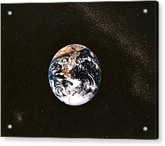 Earth Seen From Apollo 17 Africa And Antarctica Visible Acrylic Print by Anonymous