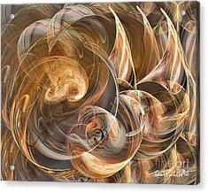 Earth Tone Luminance Acrylic Print by Leona Arsenault