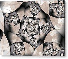 Acrylic Print featuring the digital art Earth Tones by Gabiw Art
