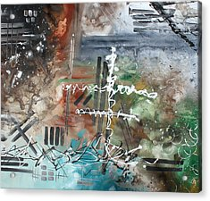 Earth Wind And Fire Abstract Painting Madart Acrylic Print by Megan Duncanson
