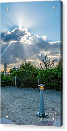 Earthly Light And Heavenly Light  Acrylic Print by Ian Monk