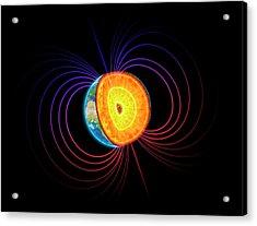 Earth's Core Acrylic Print by Andrzej Wojcicki