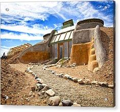 Earthship Taos  Acrylic Print by Shanna Gillette