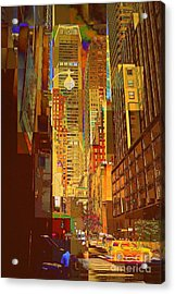 East 45th Street - New York City Acrylic Print