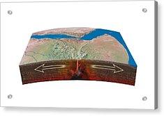 East African Rift Tectonics, Artwork Acrylic Print