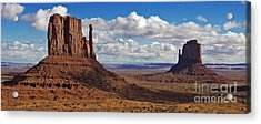 East And West Mittens Acrylic Print by Jerry Fornarotto