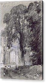 East Bergholt Church - West End Acrylic Print by John Constable