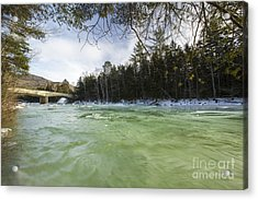 East Branch Of The Pemigewasset River - Lincoln New Hampshire Usa Acrylic Print by Erin Paul Donovan