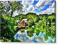 East Calais Mill Pond Acrylic Print