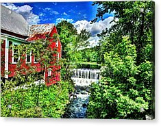 East Calais Water Powered Mill Acrylic Print