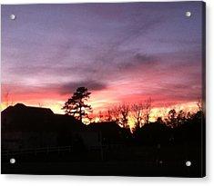 East Coast Sunset Acrylic Print