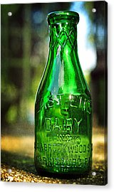 East End Dairy Green Milk Bottle Acrylic Print