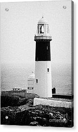 East Light Lighthouse Altacarry Altacorry Head Rathlin Island  Acrylic Print by Joe Fox