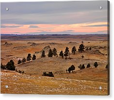 East Montana Country Acrylic Print by Leland D Howard