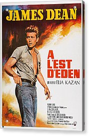 East Of Eden, French Poster Art, James Acrylic Print