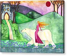 East Of The Sun And West Of The Moon Acrylic Print by Cat Athena Louise