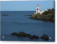East Quoddy Lighthouse At Dusk Acrylic Print