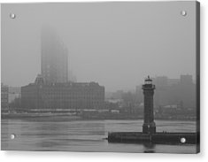 Acrylic Print featuring the photograph East River Nyc by Steven Macanka