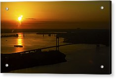 East River Sunrise Acrylic Print