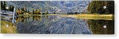 East Rosebud Lake Fall Panorama Acrylic Print