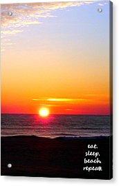 East. Sleep. Beach Sunrise Acrylic Print