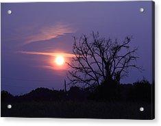 East Texas Sunset May 2014 Acrylic Print by Lorri Crossno